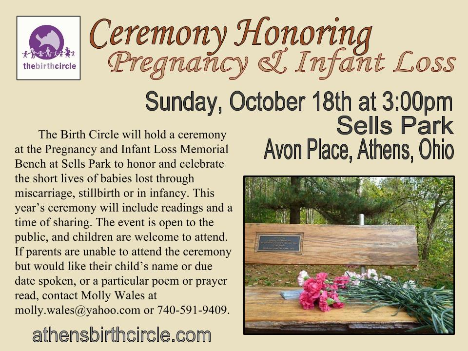 2015 Pregnancy Infant loss ceremony